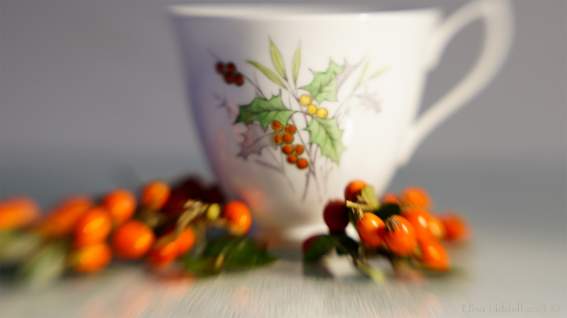 A holly cup and berries