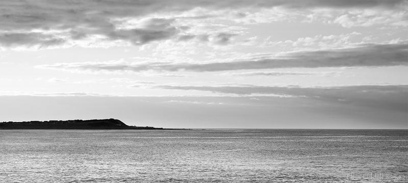 Headland Banff Bay B+W Aberdeenshire Scotland