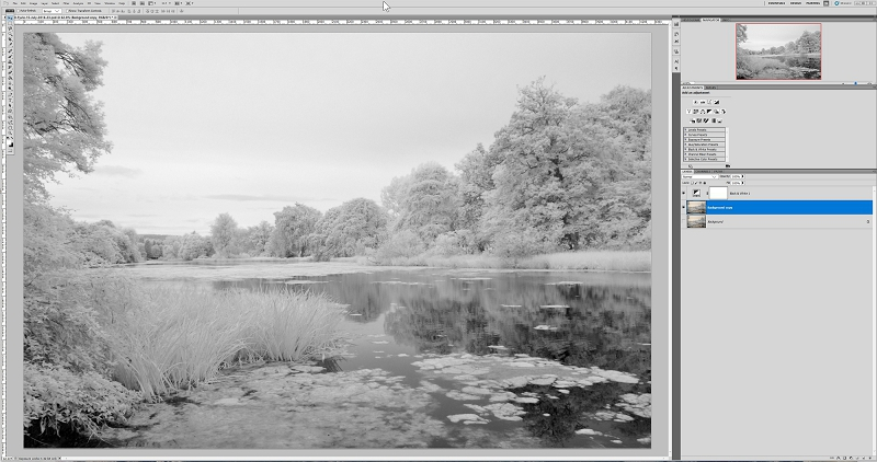 Infrared shot imported into Photoshop CS5