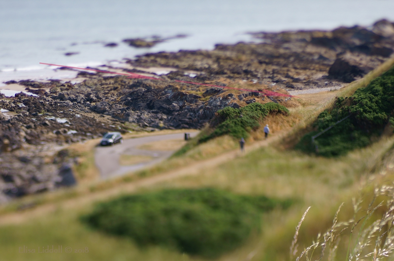 Looking down to Banff Bay, Aberdeenshire, Scotland.