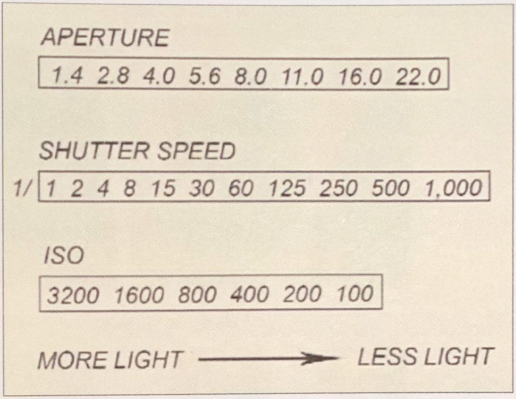 Light entering the camera sensor