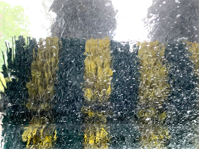 car wash brushing the windscreen