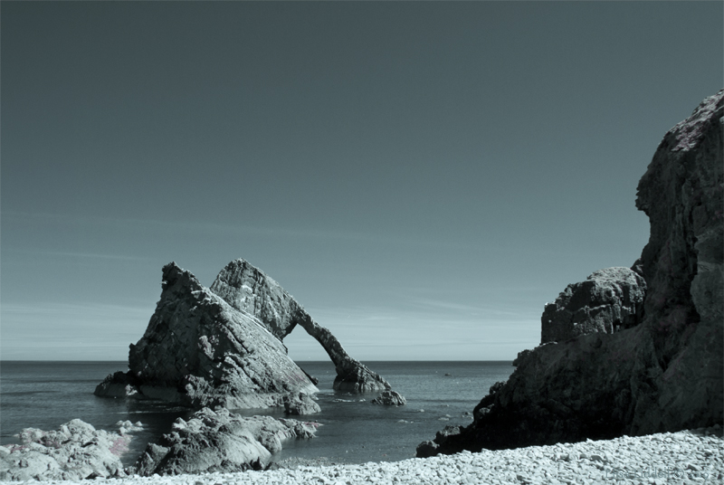 Bow Fiddle rock shot in Infrared