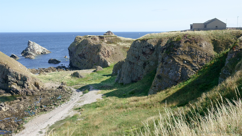 The cliffs at Portknockie
