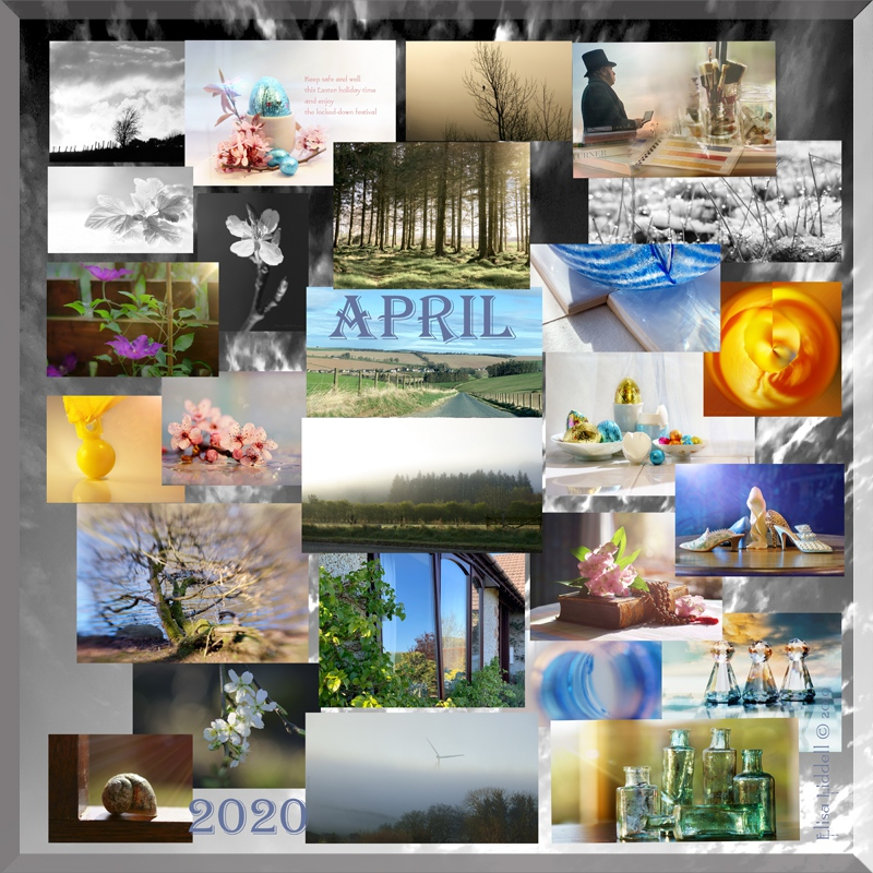 Collage of April 2020 photos