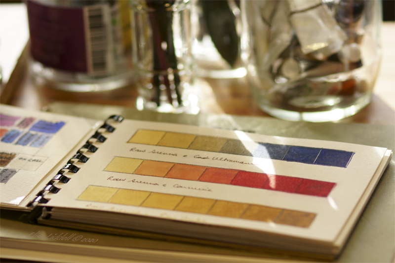 notebooks of colour charts