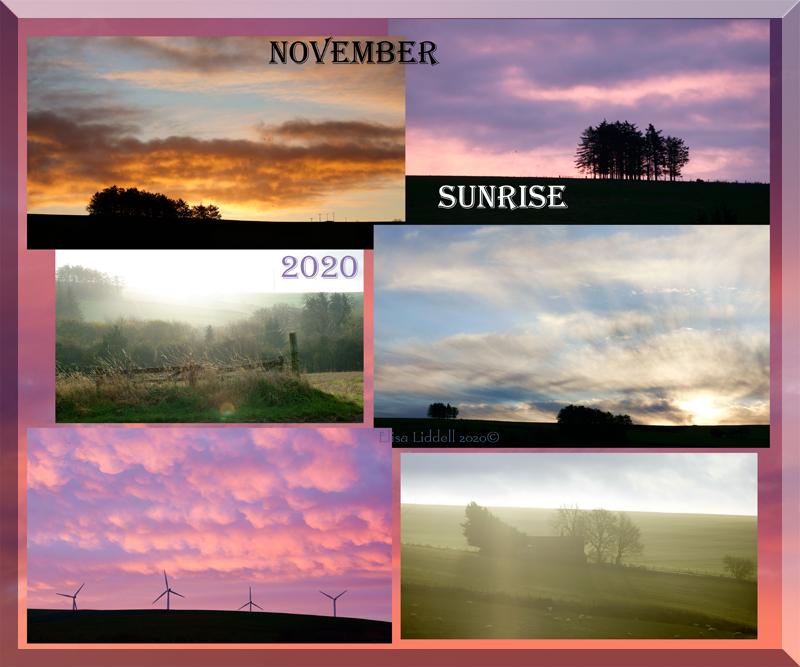 November sunrises
