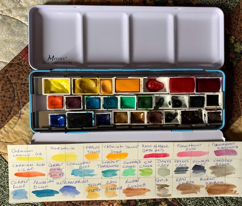 My starting palette