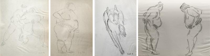Kimon Nicolaides pencil sketches