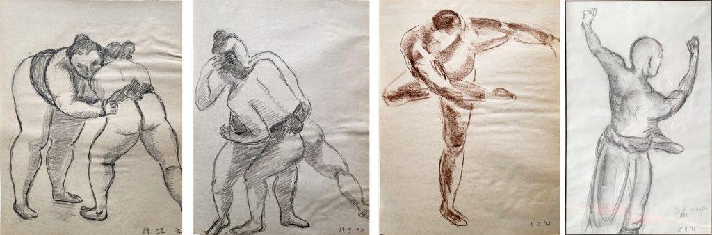 Kimon Nicolaides pencil sketches with shadows