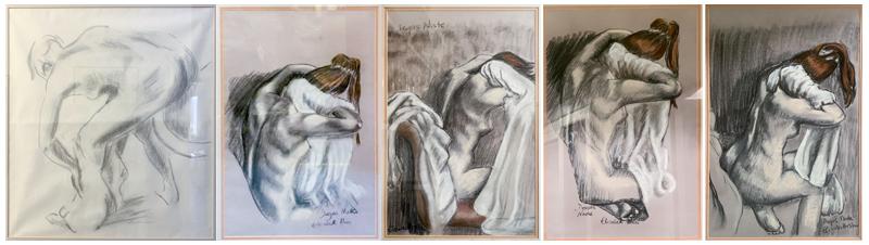 5 studies of Deags nudes